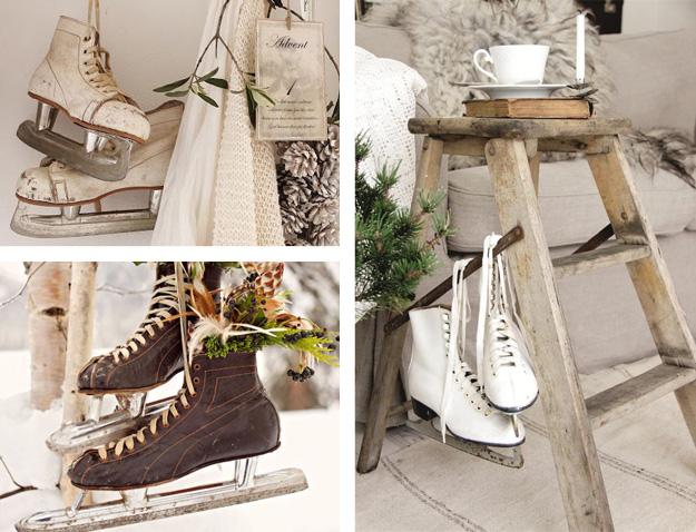 Decoreren met schaatsen