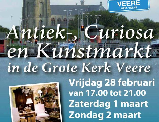 Antiek curiosa kunstmarkt Veere 2014