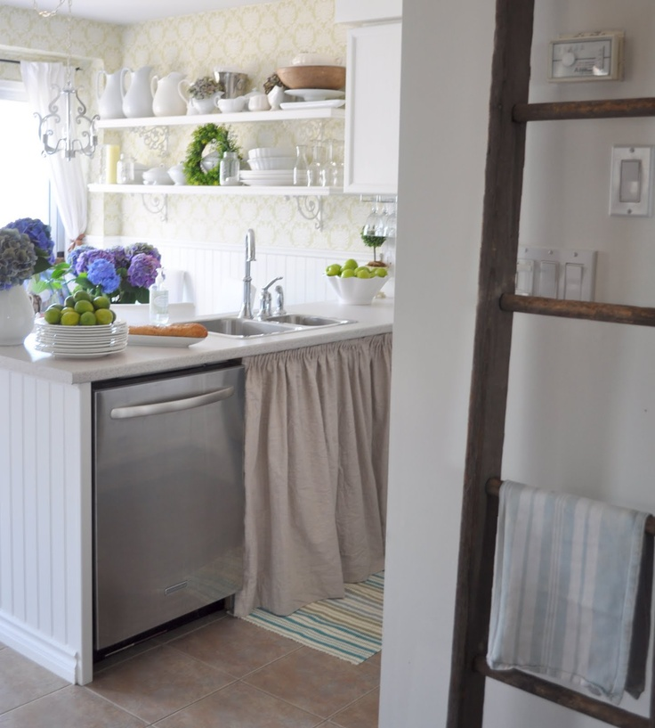Brocante Keuken: Het Keukengordijntje