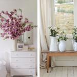 Lente in huis met bloesemtakken