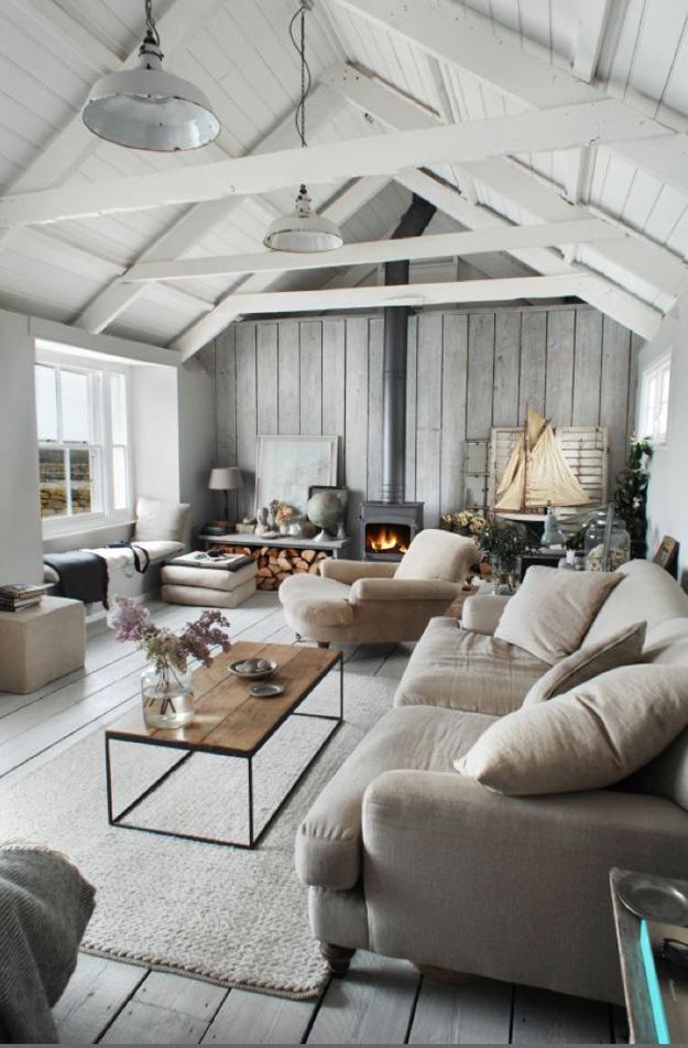 Winterse woonkamer
