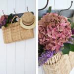 Een tas vol bloemen